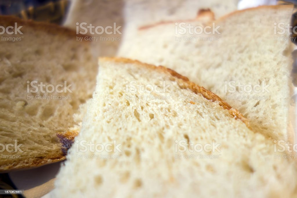 Close up of sliced bread royalty-free stock photo