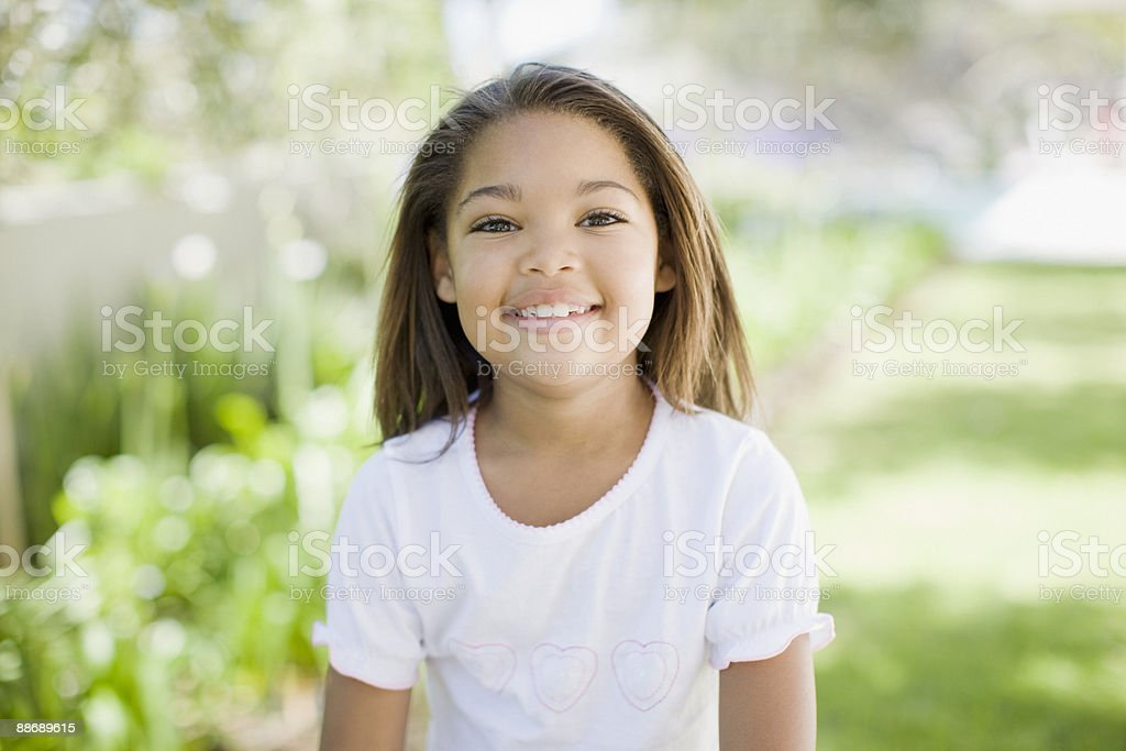 Close up of smiling girl royalty-free stock photo