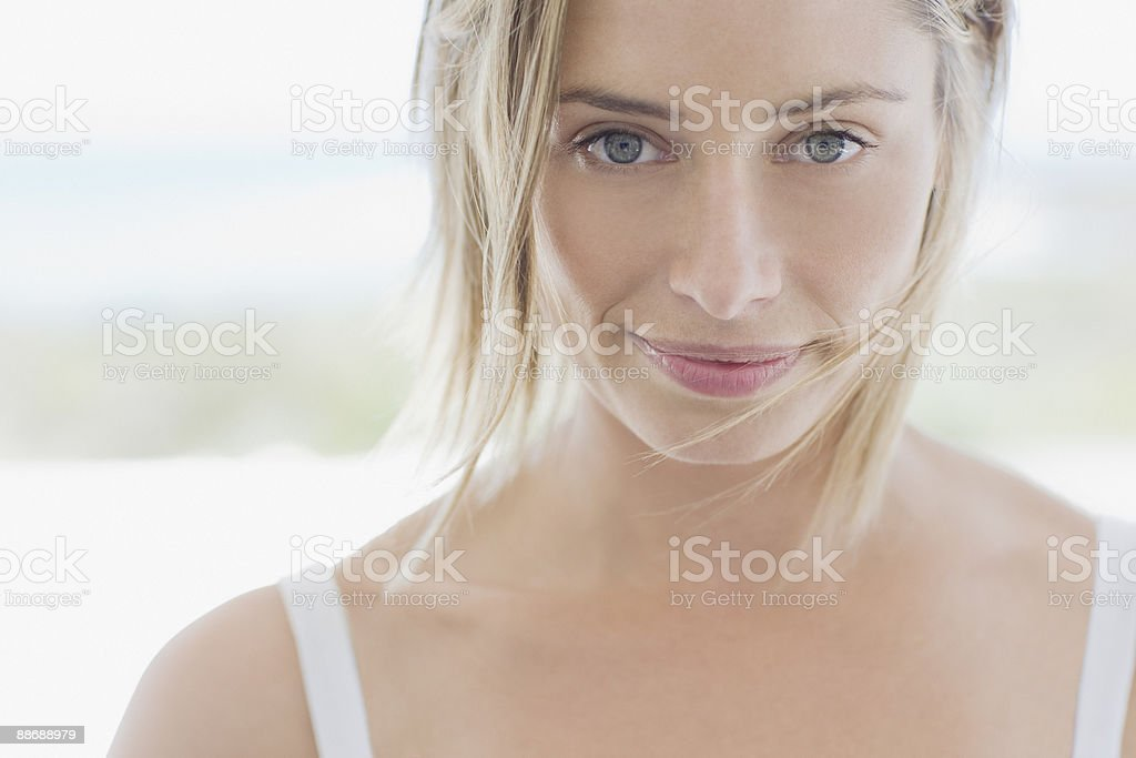 Close up of smiling woman royalty-free stock photo
