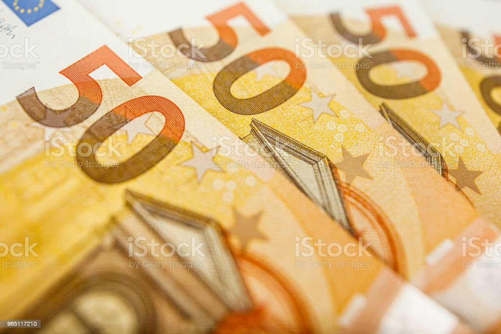 close up of some 50 euros bills royalty-free stock photo
