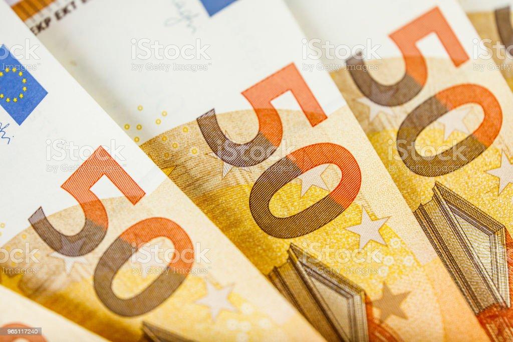close up of some 50 euros bills zbiór zdjęć royalty-free