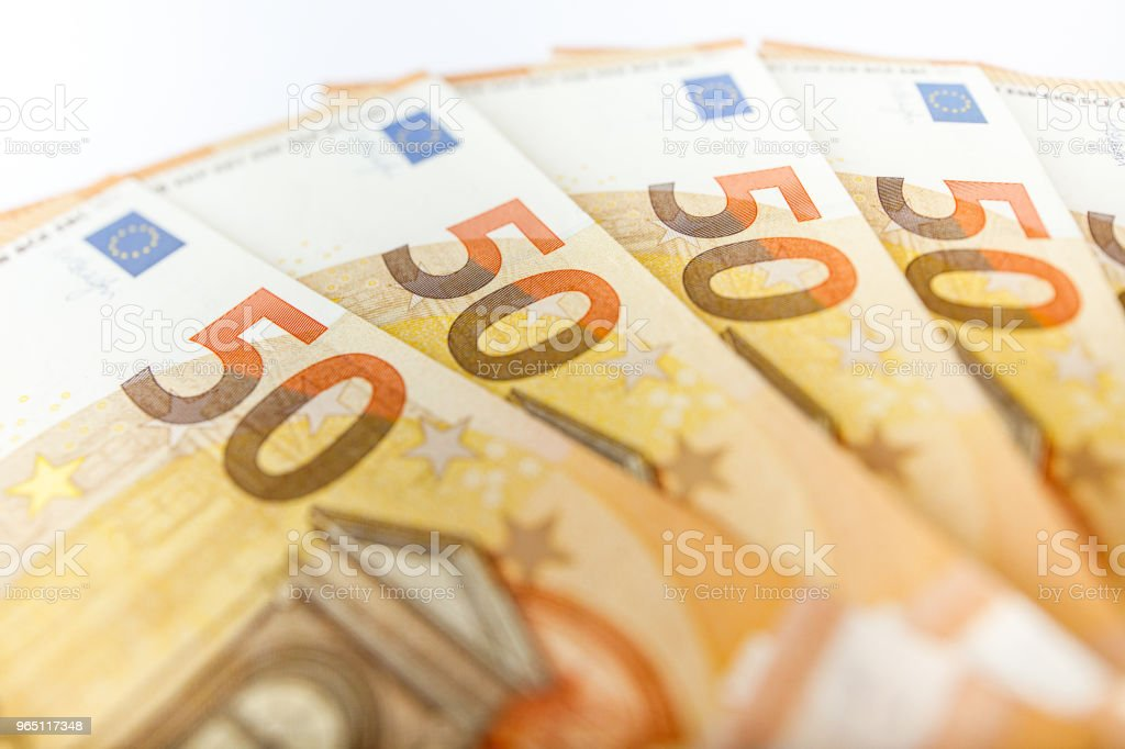 close up of some 50 euros bills zbiór zdjęć royalty-free