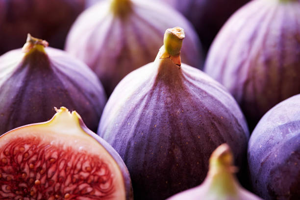 Close up of some figs. stock photo