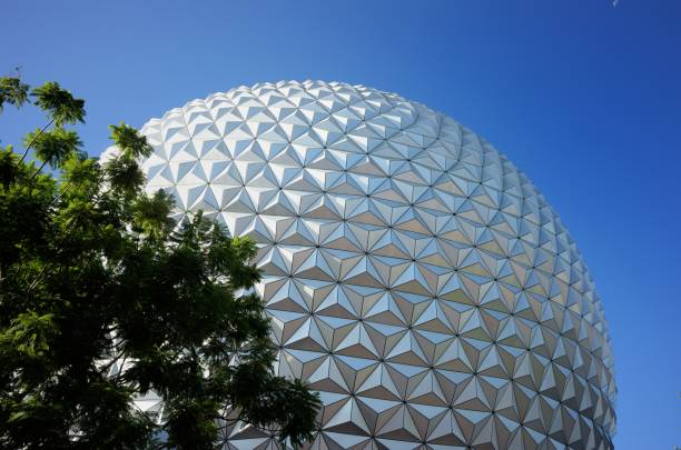 Close up of SpaceShip Earth at Epcot stock photo