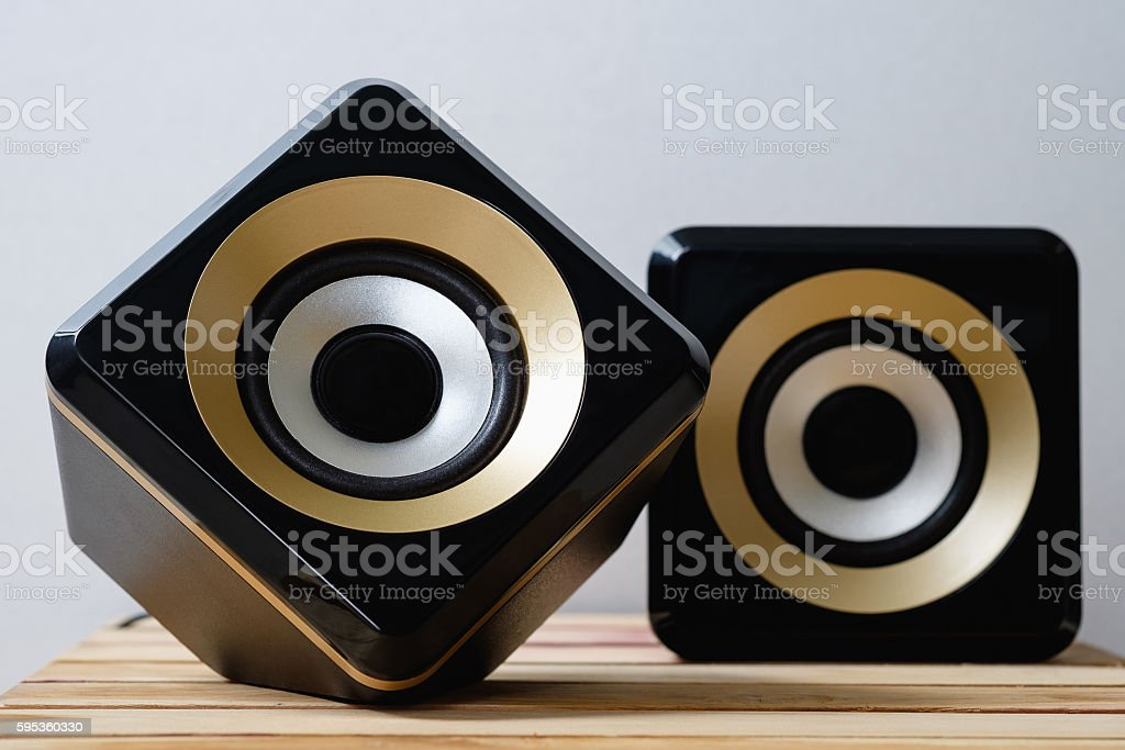 Close up of speakers - foto de stock