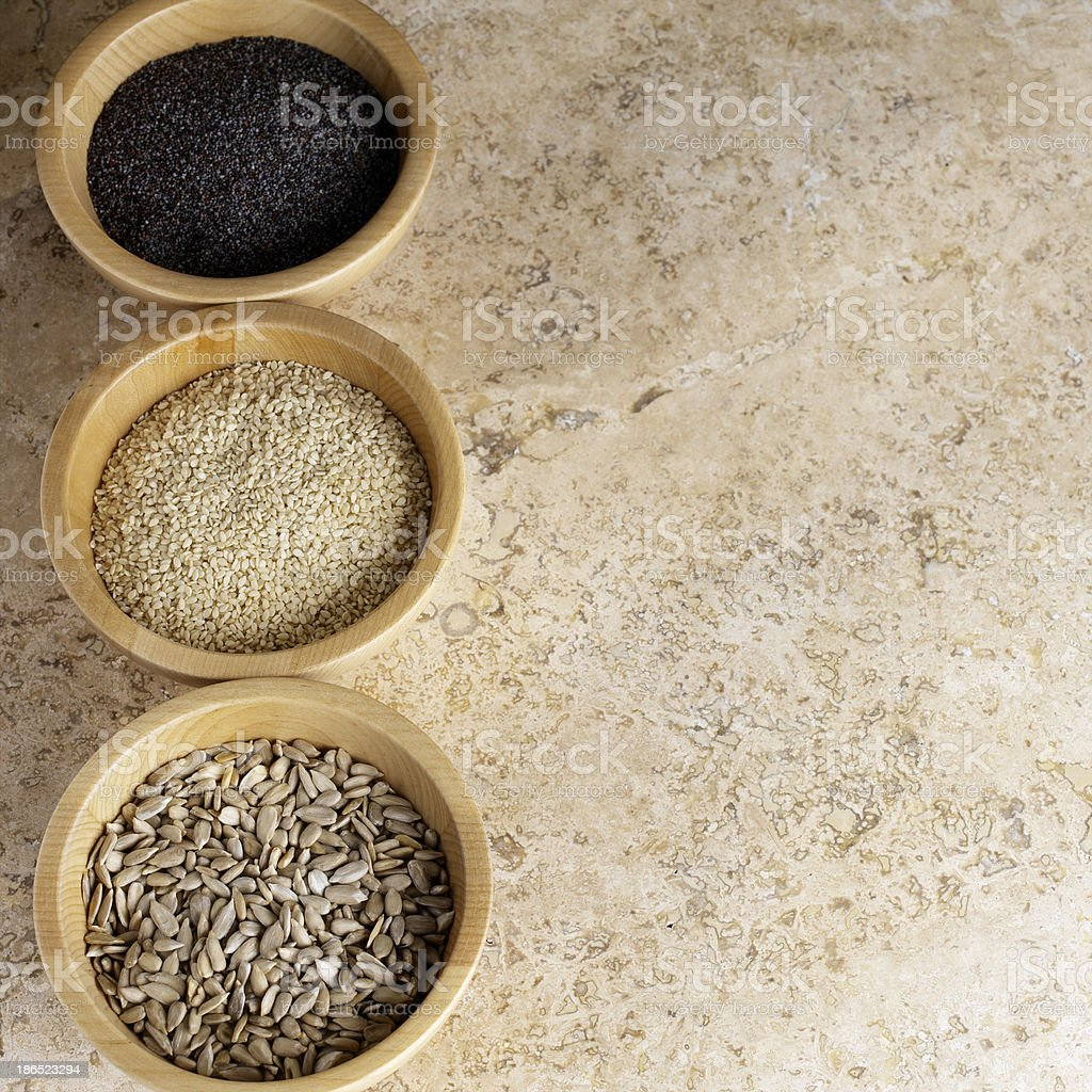 close up of spices on bowl royalty-free stock photo