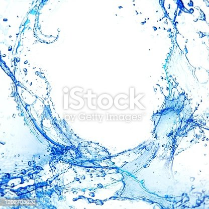 629189244 istock photo Close up of splashes and white background 1202703620