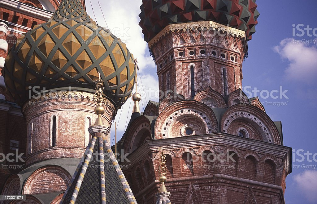 Close up of St. Basil Cathedral royalty-free stock photo