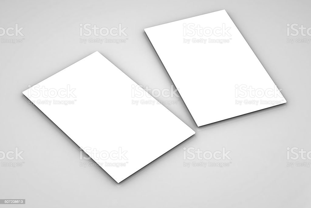 close up of stack of papers on white background royalty-free stock photo