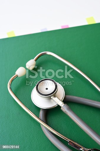 Close Up Of Stethoscope With Notebook Stock Photo & More Pictures of Alternative Medicine