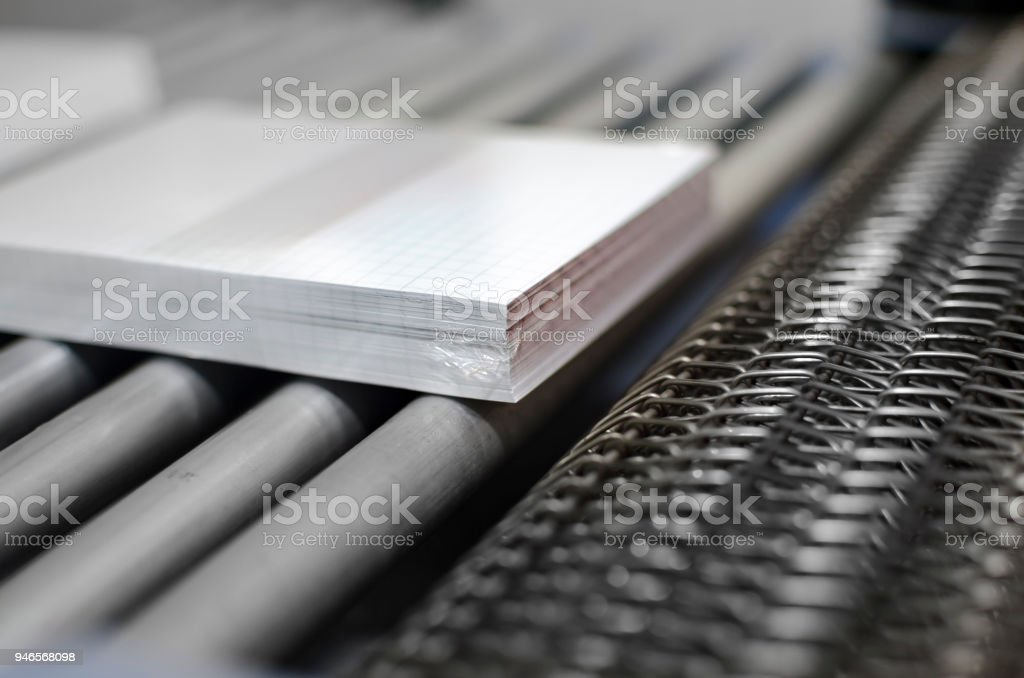 close up of stitched paperback binding stock photo