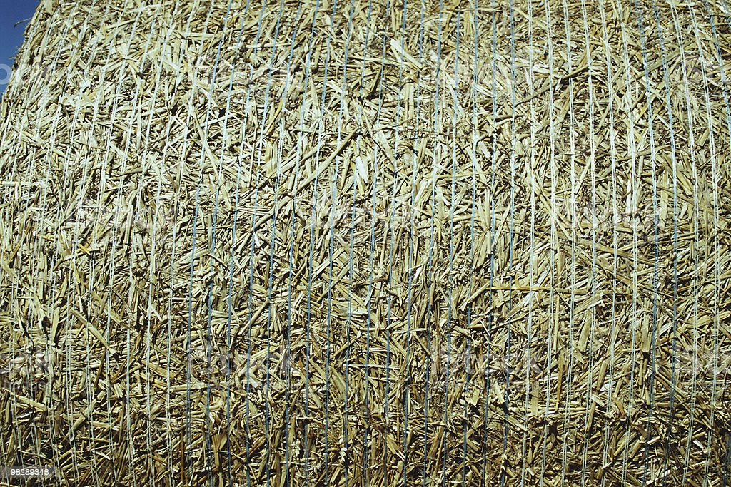 Close up of Straw Bale royalty-free stock photo