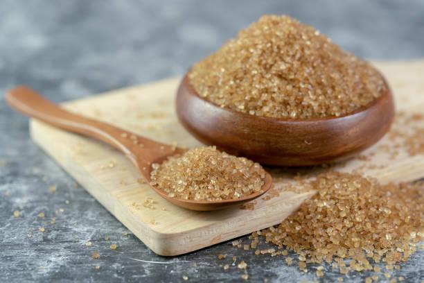 Zucker auf Holzlöffel schließen. – Foto