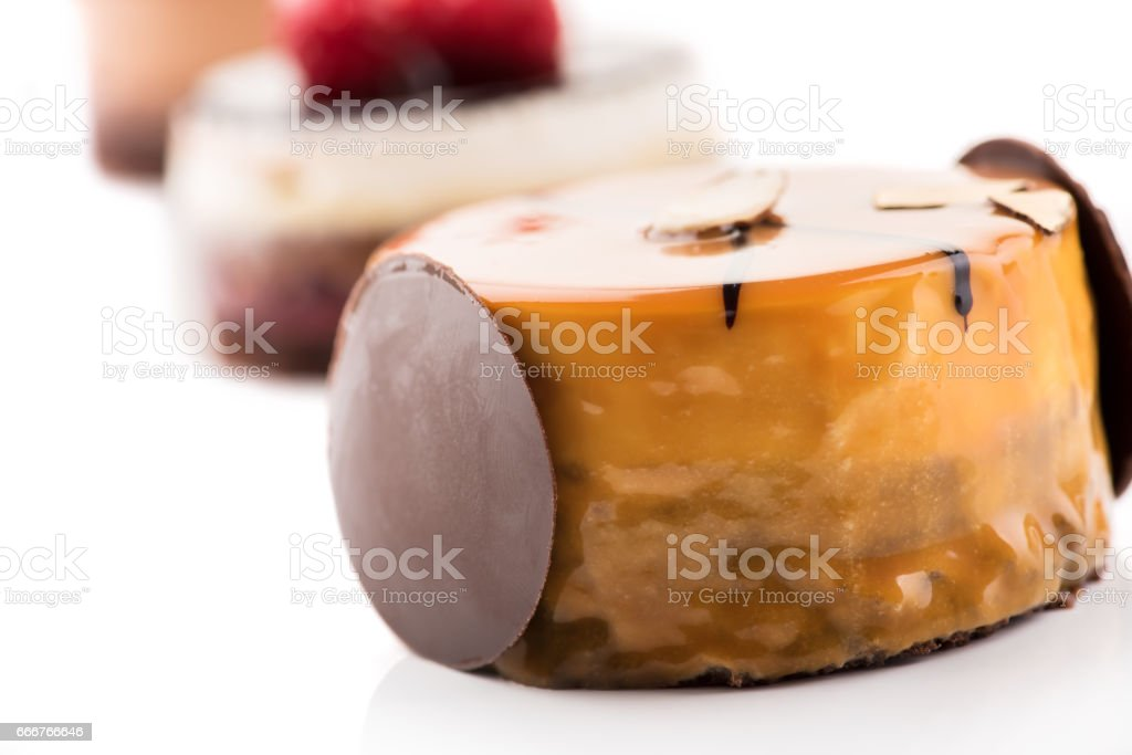 Close up of sweet and tasty chocolate cakes. foto stock royalty-free