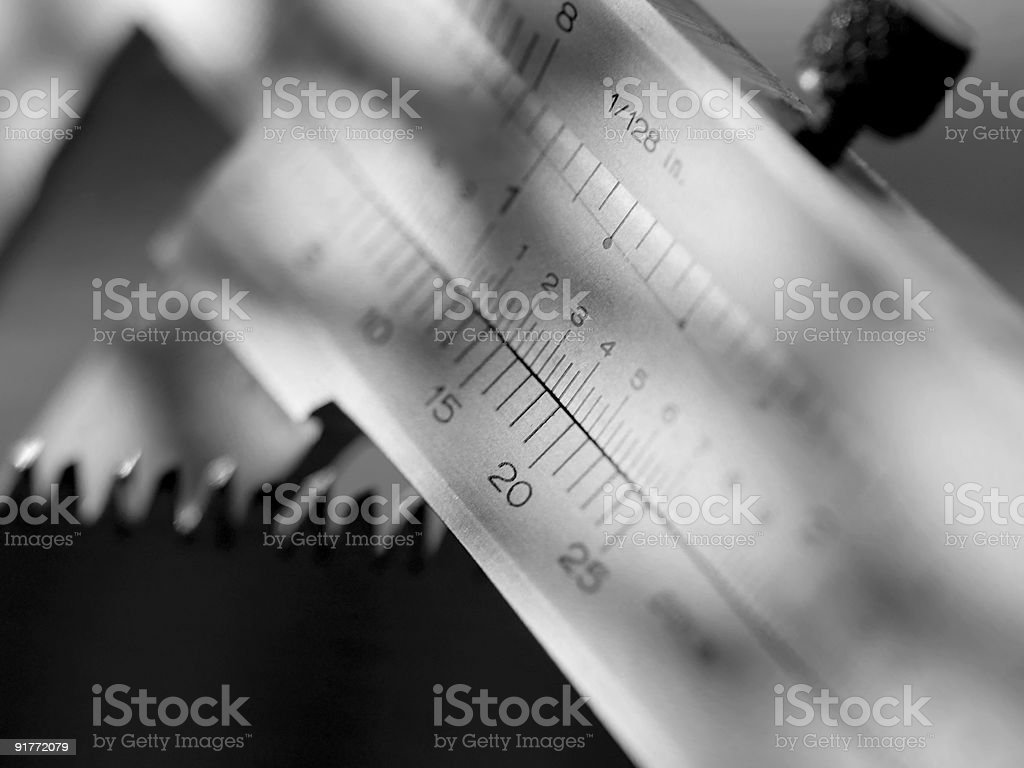 Close up of Table Saw Guide stock photo