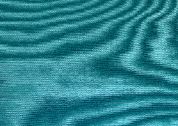 Close Up of Teal Cotton Textile Texture stock photo