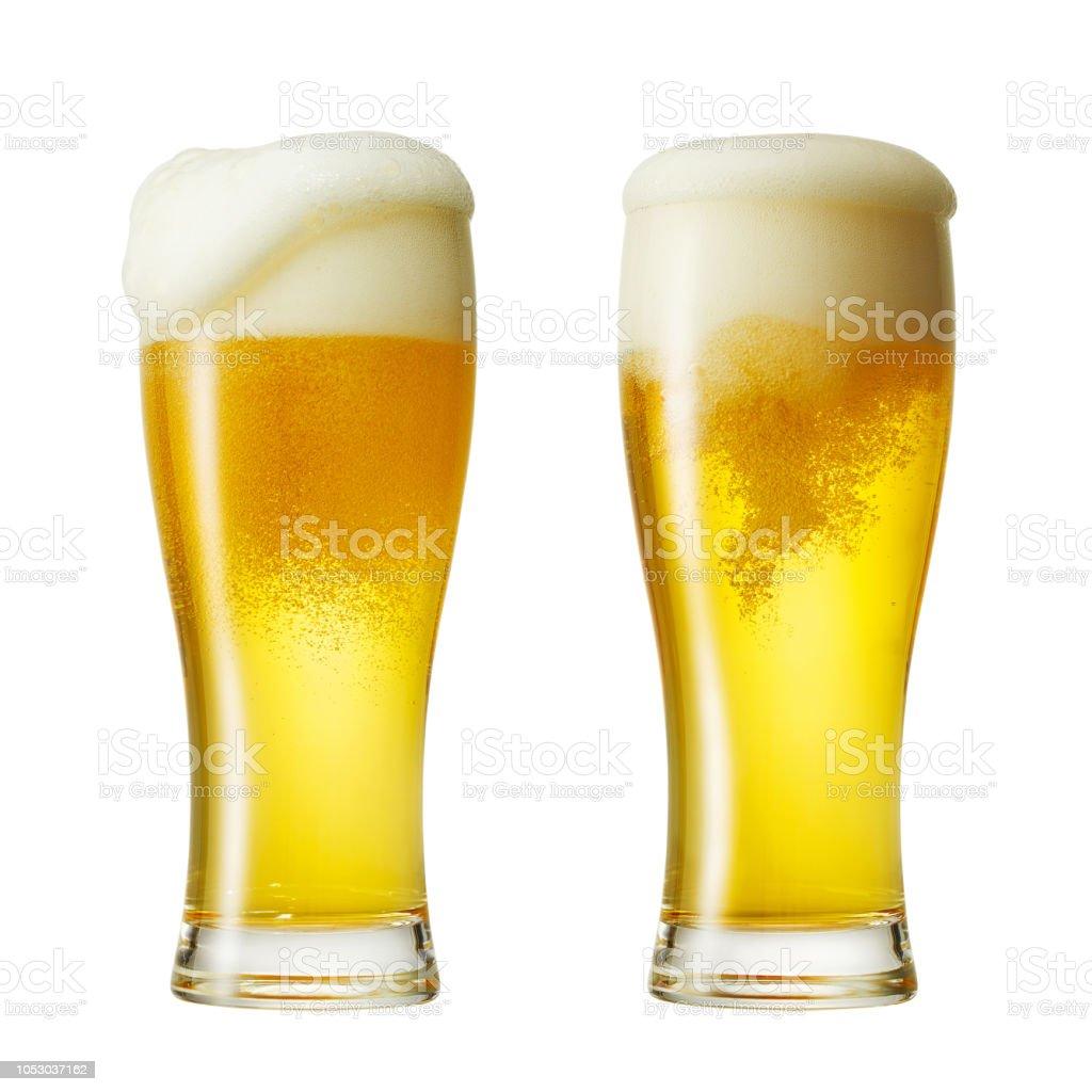 Close-up van het bier foto