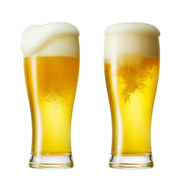 close up of the beer - beer glass stock photos and pictures