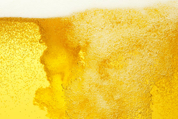 close up of the beer - beer pour stock photos and pictures