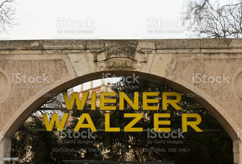 Close up of the board of Wiener Walzer stock photo