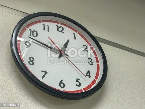close up of the clock on the wall