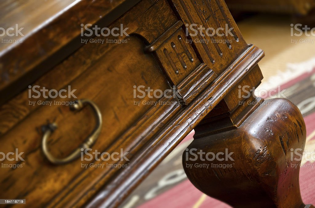 Close up of the corner desk royalty-free stock photo