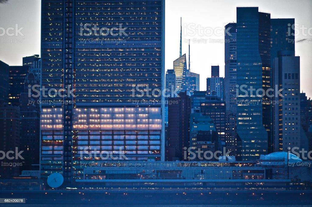 Gros plan sur les toits de Manhattan de Nouveau York photo libre de droits