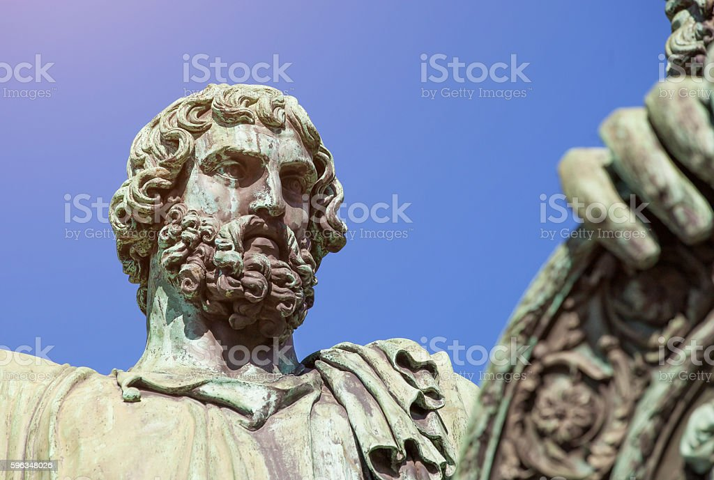 Close up of the monument to Minin and Pozharsky royalty-free stock photo