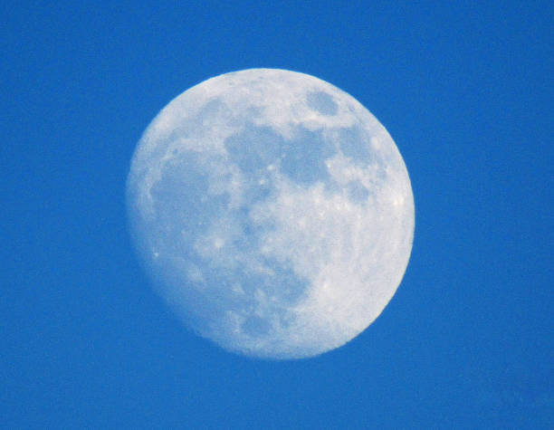 close up of the moon - moon stock photos and pictures