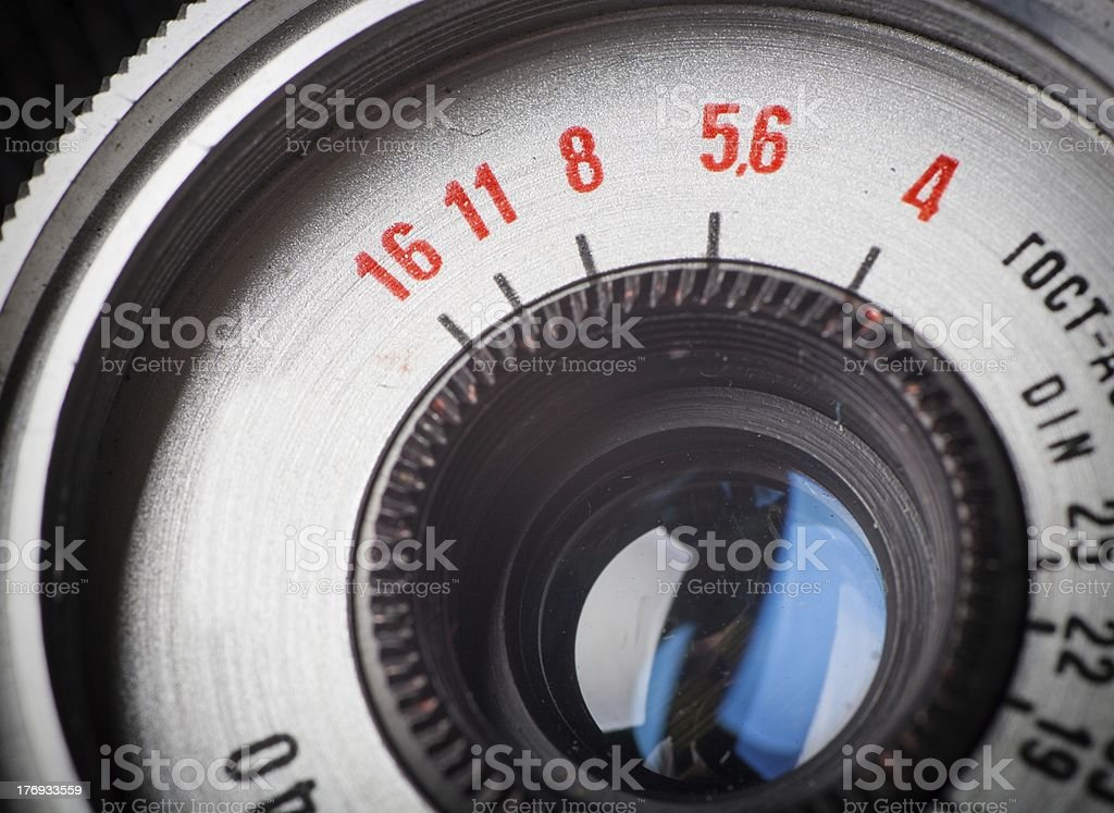 Close up of the old camera, vintage style royalty-free stock photo
