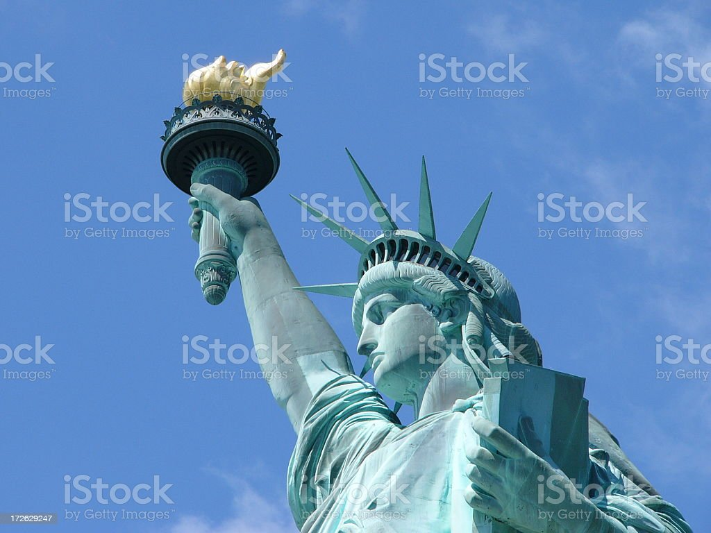 A close up of the Statue of Liberty royalty-free stock photo