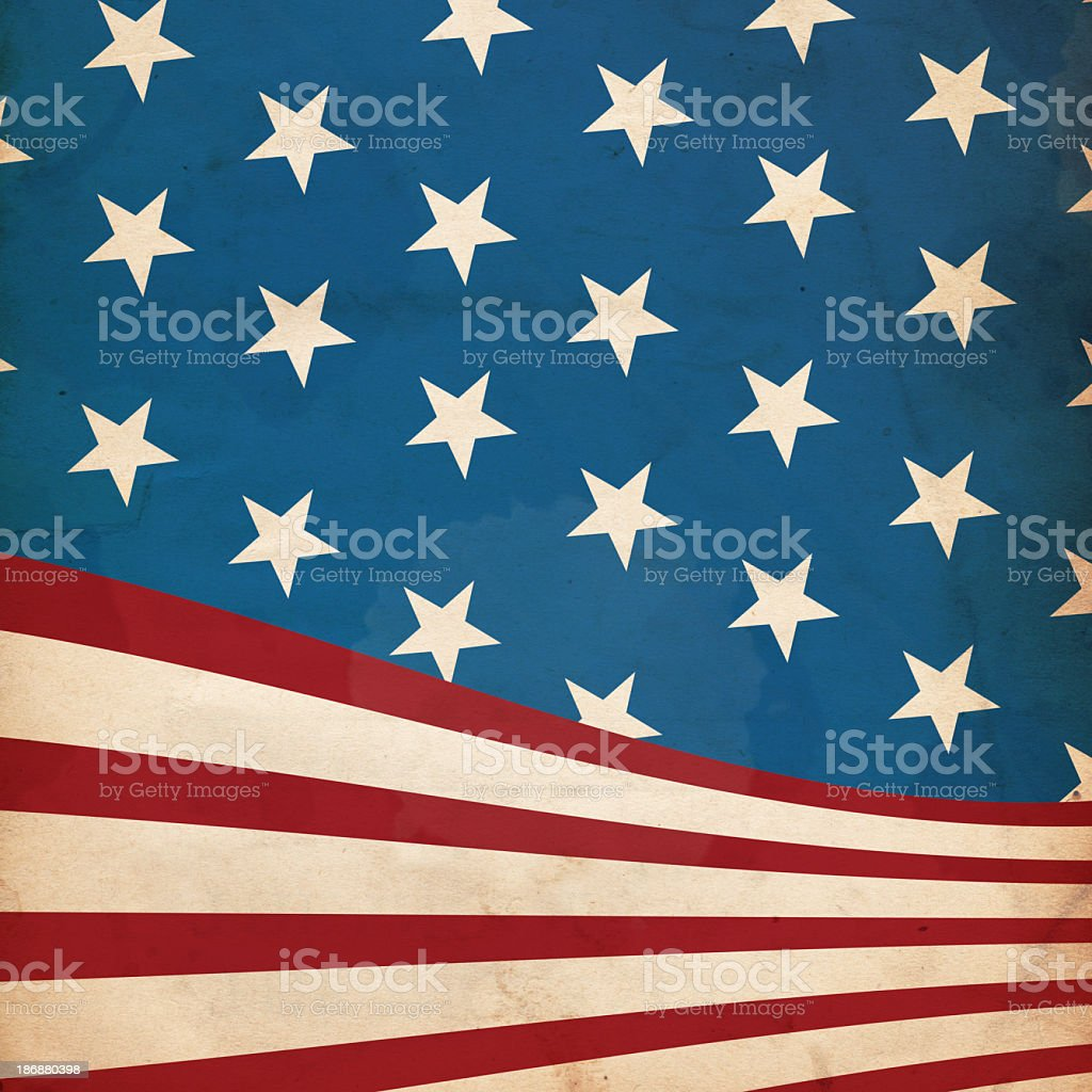 Close up of the USA flag as background paper stock photo