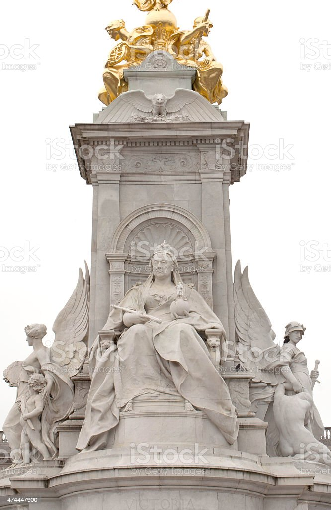 Close up of The Victoria Memorial stock photo