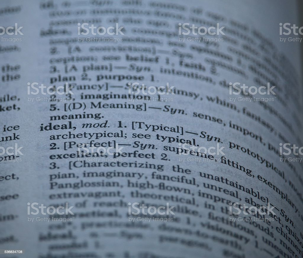 Close up of Thesaurus word Ideal stock photo