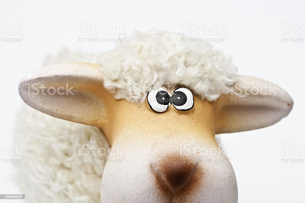 Close Up of Toy Sheep royalty-free stock photo