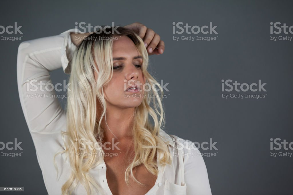 Close up of transgender young female royalty-free stock photo