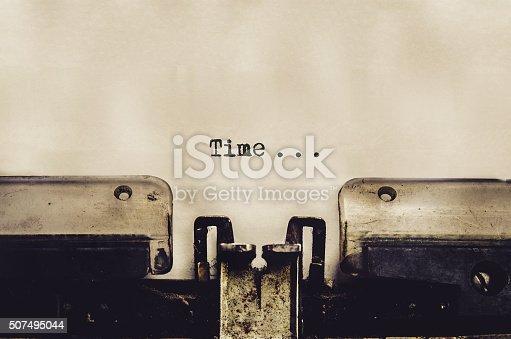 istock close up of typewriter vintage retro styled 507495044
