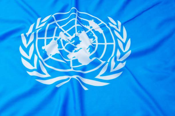 미국된 깃발의 클로즈업 - united nations 뉴스 사진 이미지