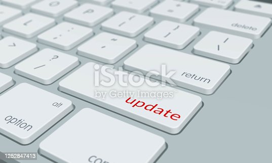 Computer keyboard with update word key