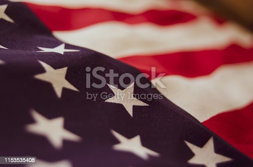 istock close up of usa flag - memorial day 1153535408