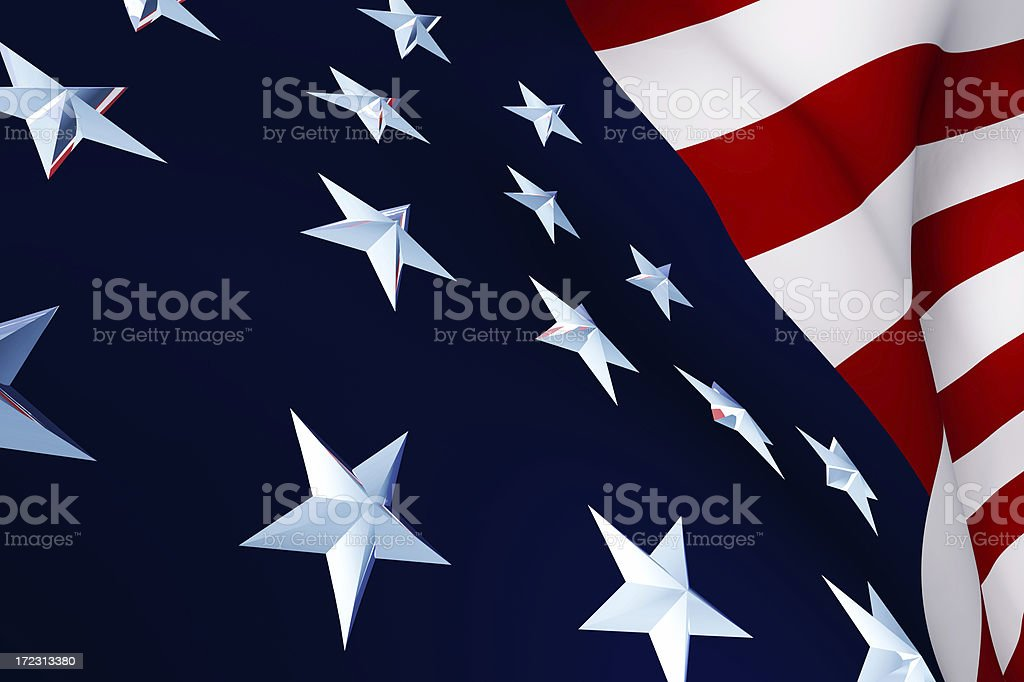 Close Up of USA Flag royalty-free stock photo