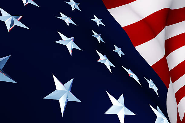Close Up of USA Flag stock photo
