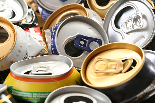 istock Close up of used cans to recycle 146838222
