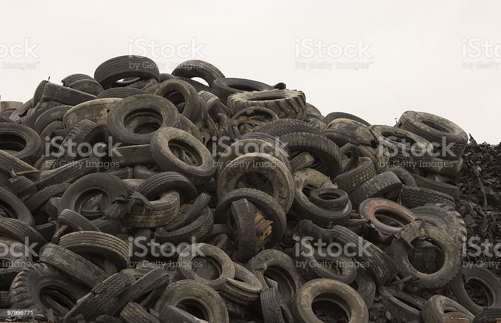 Close up of Used Tyres royalty-free stock photo