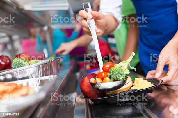 Close up of vegetables students choosing food in school cafeteria picture id174847590?b=1&k=6&m=174847590&s=612x612&h=ufvaimrqlbmdxzhrlelqojrxmi2jmh8nejmepzxzpce=