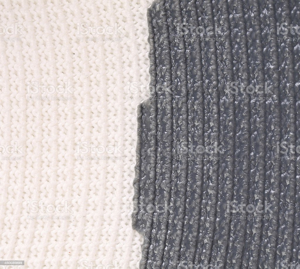 Close up of vertical knitted fabric texture. stock photo