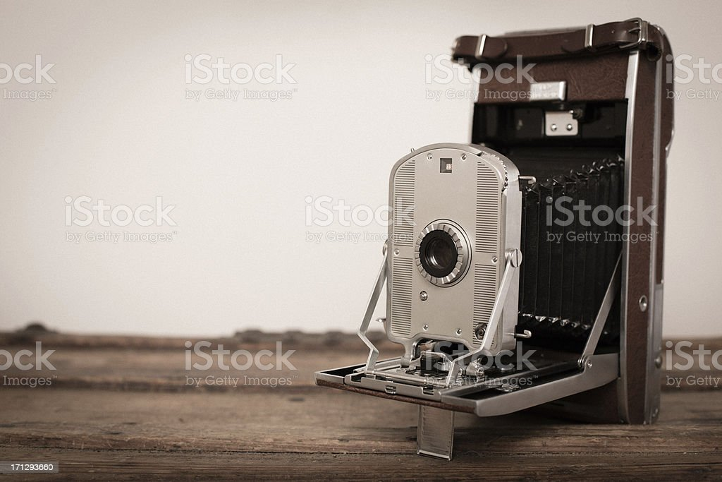Close Up of Vintage Black Camera, With Copy Space royalty-free stock photo