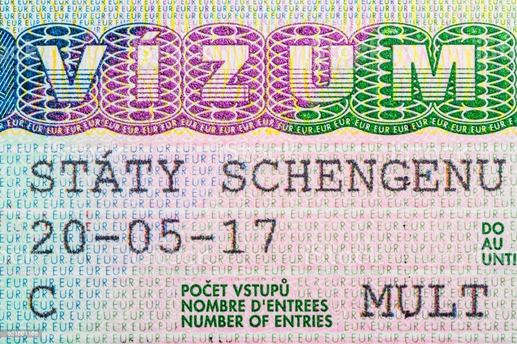 Tschechien Von Schengen Reisekonzept. Lizenzfreies Stock Foto