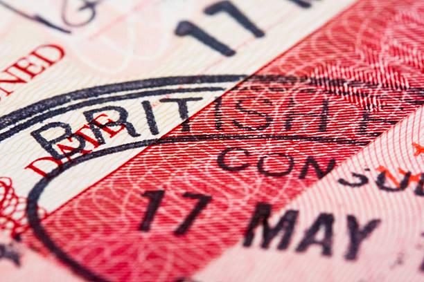Visa-passport stamp – Foto