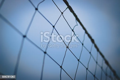 istock Close Up of Volley Net 936281062